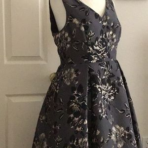 Black and gold flower dress Adriana Papell